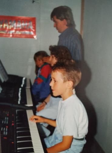 Daniel Schramm in der Keyboardschule 1992